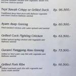 menu bebek tepi sawah Ubud