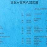menu menega cafe Jimbaran
