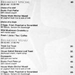 menu cafe sardinia beachwalk kuta