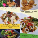 menu single fin jimbaran bali