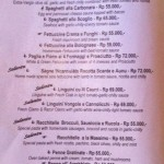 menu massimo italian restaurant sanur