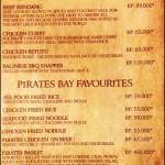 menu pirates bay nusa dua bali