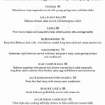 menu rondji restaurant ubud