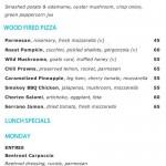 menu cocoon beach club