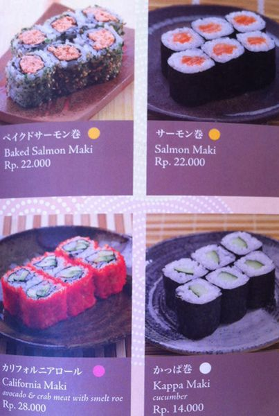 Menu Sushi Tei Bali Best Restaurants Cafe In Bali Guide Bali