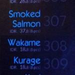 menu sushi hana bali