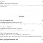 menu cafe pomegranate Ubud