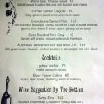 menu Kebun Bistro Ubud
