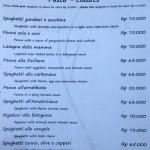 menu dolce arancia restaurant ubud