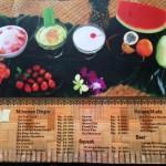 Menu Segara Bambu Seafood Denpasar