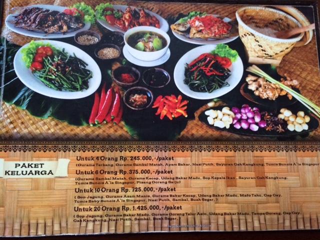 Menu Segara Bambu Seafood Denpasar Best Restaurants Cafe In Bali